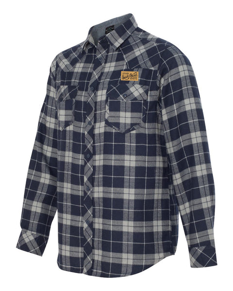 Sink or Swim Flannel (Navy & Grey) - Vinyl Soundtrack I Am Shark