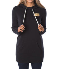 Sink or Swim Hoodie Dress (Black)