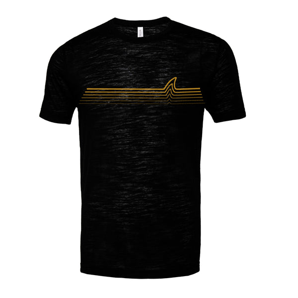 'Gold Fin' Vintage Slub Tee (Black) - Vinyl Soundtrack I Am Shark