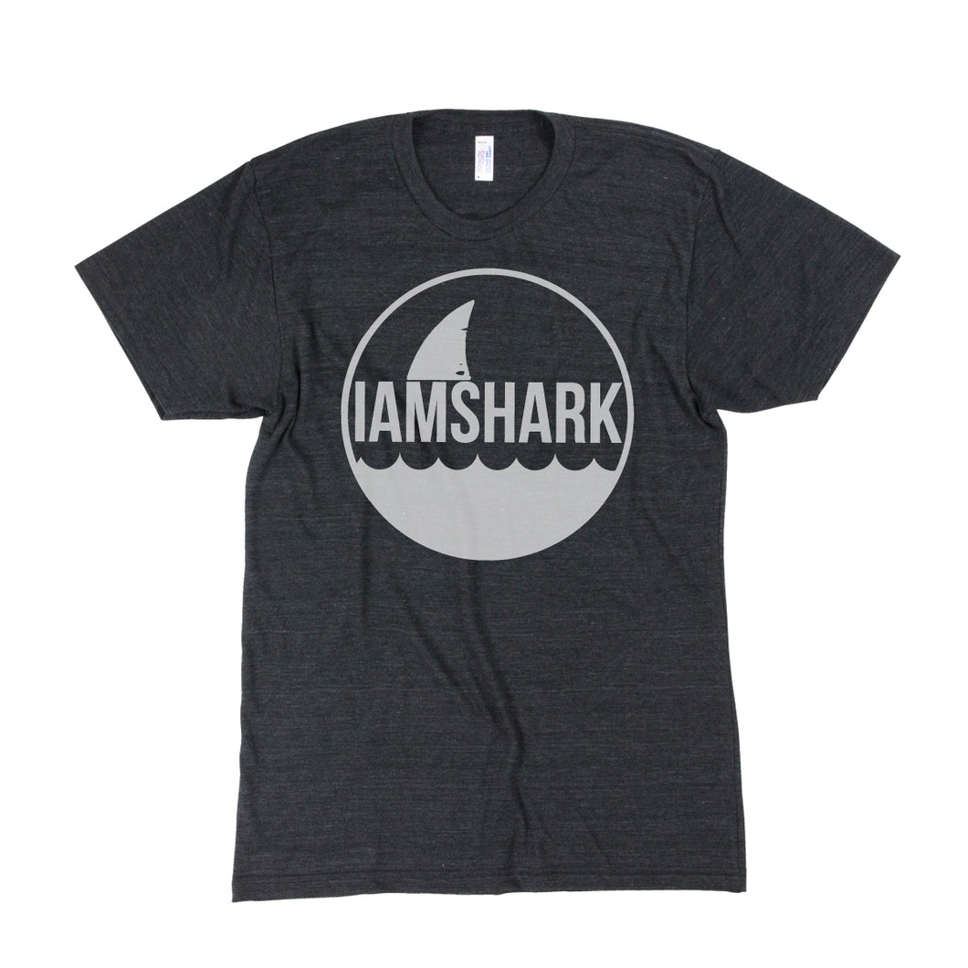 I Am Shark Logo Tri-Blend Tee (Charcoal Grey) - Vinyl Soundtrack I Am Shark