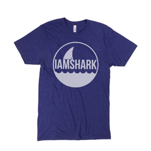 I Am Shark Logo Tri-Blend Tee (Navy)