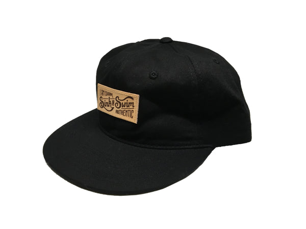 Relaxed Sink or Swim Snapback (Black) - Vinyl Soundtrack I Am Shark