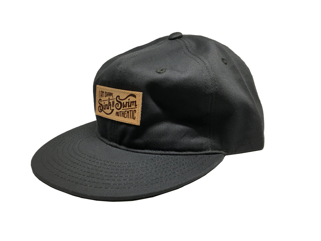 Relaxed Sink or Swim Snapback (Charcoal)