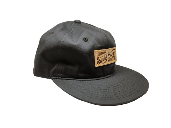 Relaxed Sink or Swim Snapback (Charcoal) - Vinyl Soundtrack I Am Shark