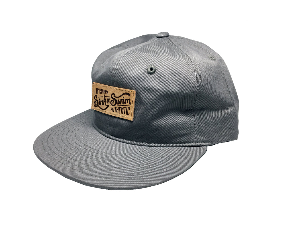 Relaxed Sink or Swim Snapback (Grey) - Vinyl Soundtrack I Am Shark