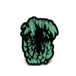 Attack The Block - Teeth Pin (Glow In The Dark)