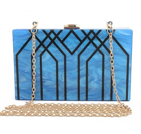 Geometric Box Style Vintage Shoulder Bag