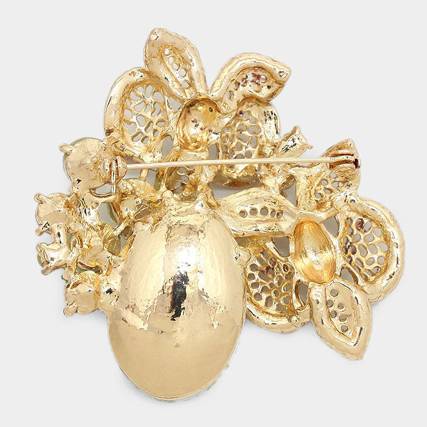 Butterfly Crystal Pin Brooch