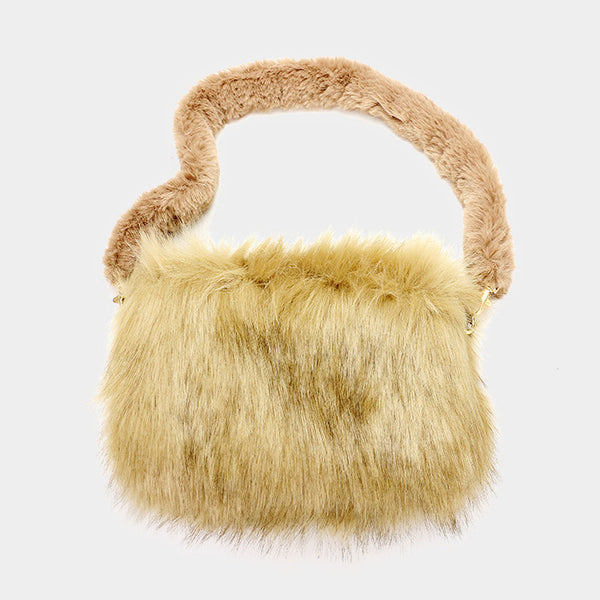 Furry Faux Fur Clutch Bag