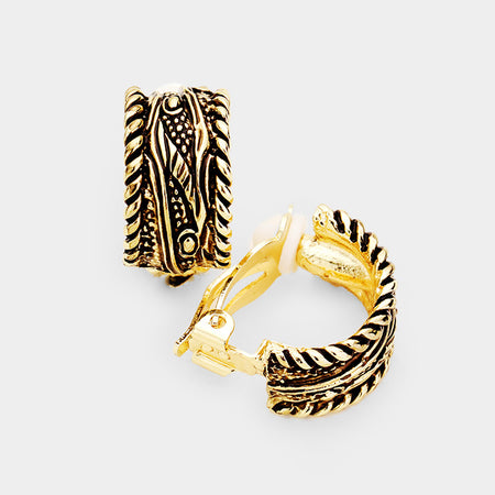 Judy White Zig Zag Earrings
