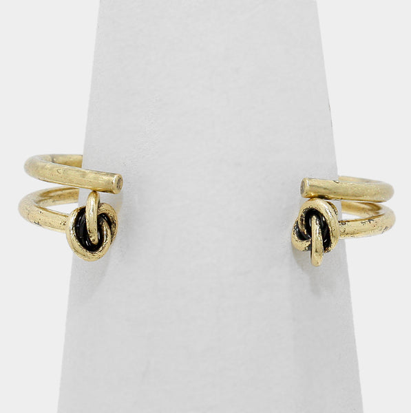 Layered Metal Knot Cuff Bracelet