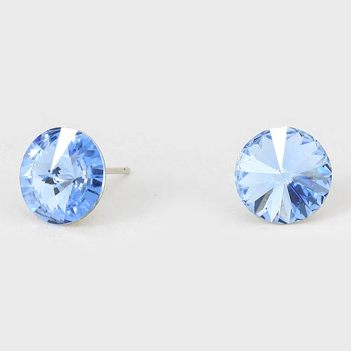 10 Mm Round Crystal Cz Stud Earrings