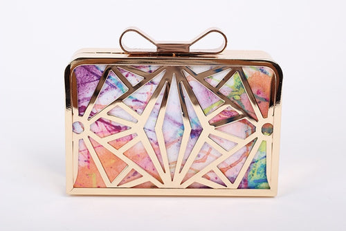 Personality Hollow Mini Bow Clutch Bag
