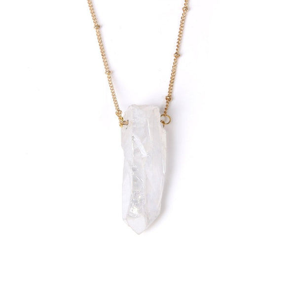 Quartz Charm Pendant Spiritual Necklace
