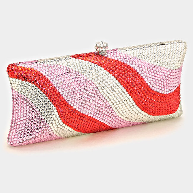 Crystal Hard Case Evening Clutch With Strap _reduced Price