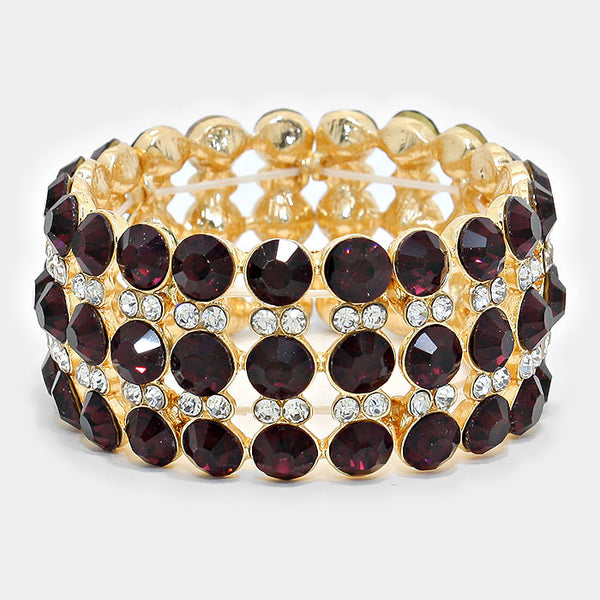 Glass Crystal Bubble Stretch Bracelet