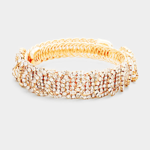 Crystal Pave Evening Adjustable Bracelet