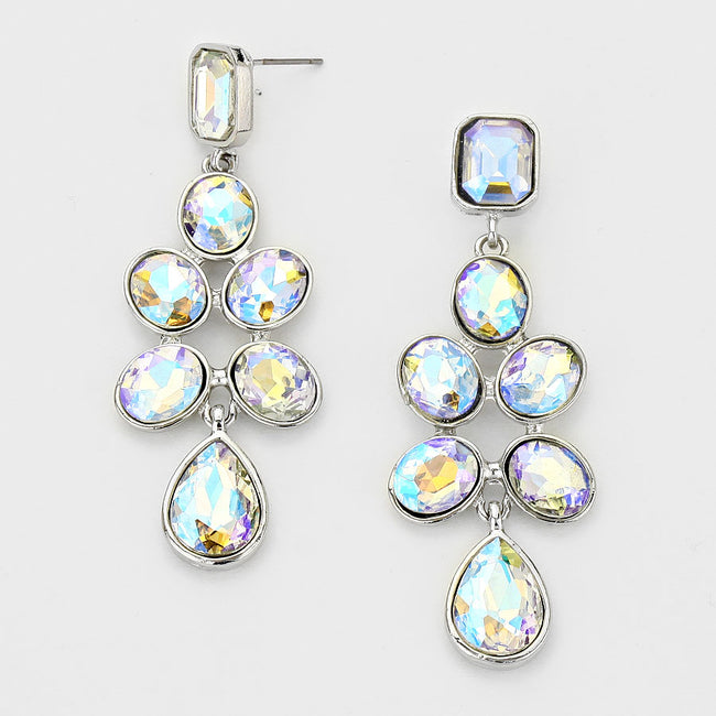 Rhinestone Chandelier Evening Earrings