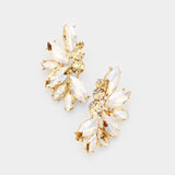 Crystal Rhinestone Marquise Cluster Earrings