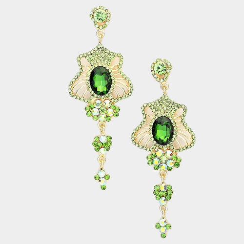 Drop Rhinestone Evening Earrings