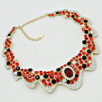 Gothic Aura Wave Bib Necklace