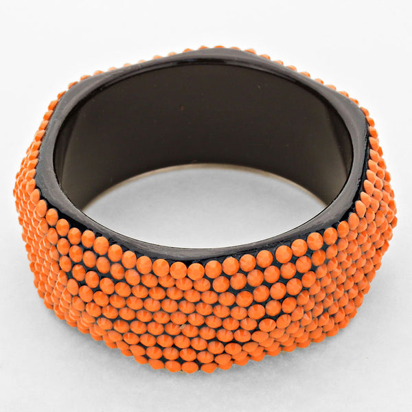 Resin Studded Bangle Bracelet