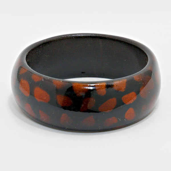 Shimmery Teardrop Dot Bangle Bracelet