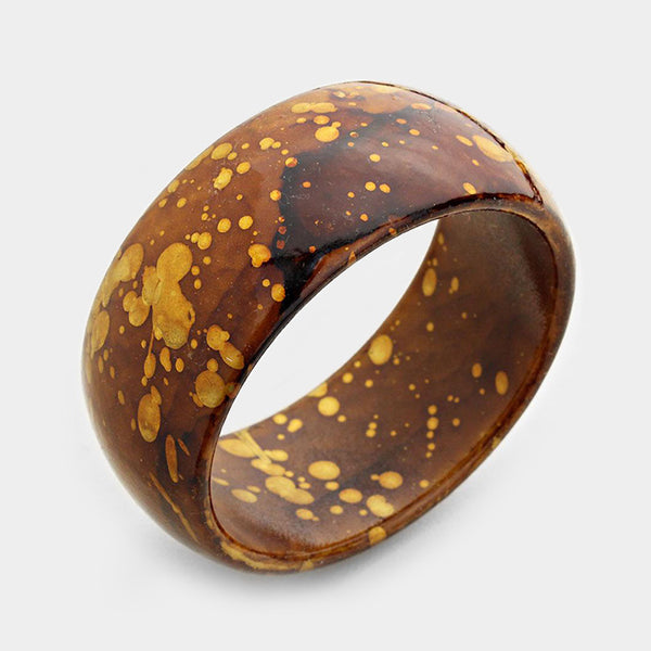 Splash Print Bangle Bracelet