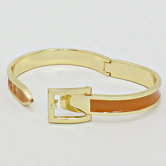 Belt Buckle Enamel Bracelet
