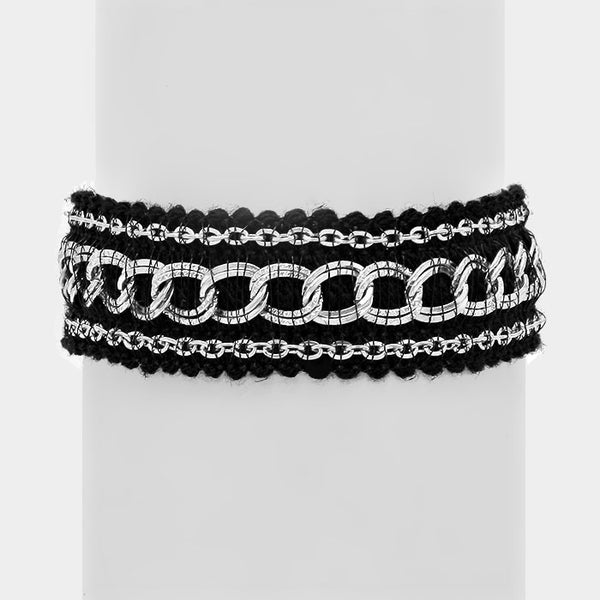 Metal Chain Knit Bracelet