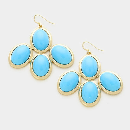 Cabochon Statement Earrings