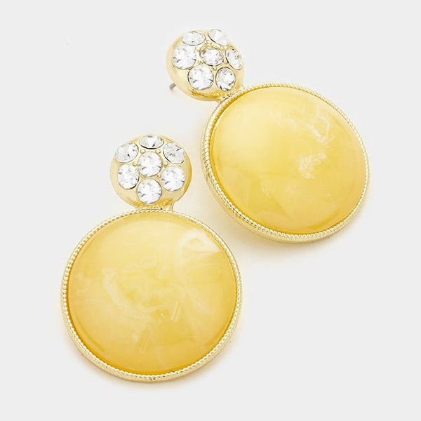 Crystal & Marble Statement Earrings