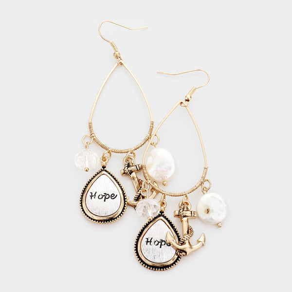 Hope Anchor Dangle Earrings