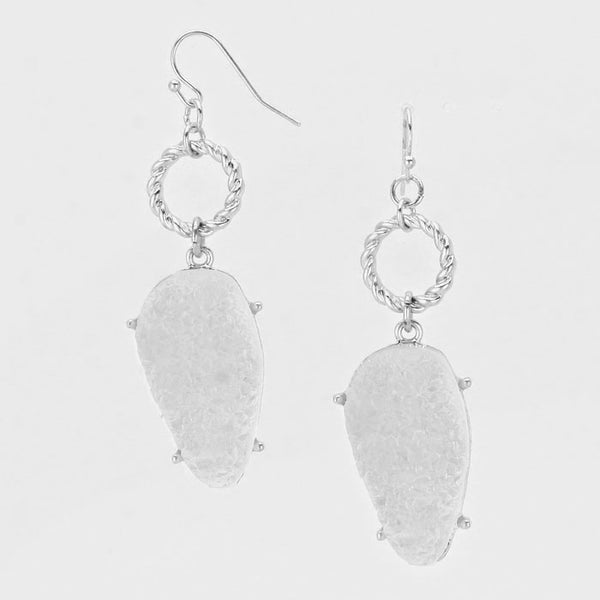 Agate Stone Drop Earrings