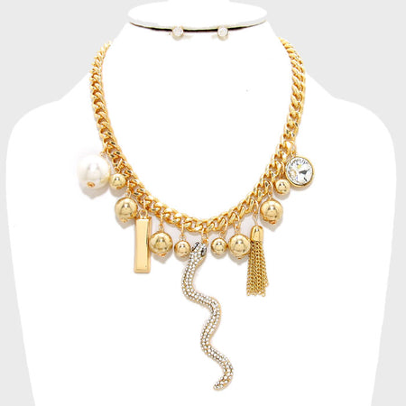 Twisted Multi-strand Cord Bib Necklace
