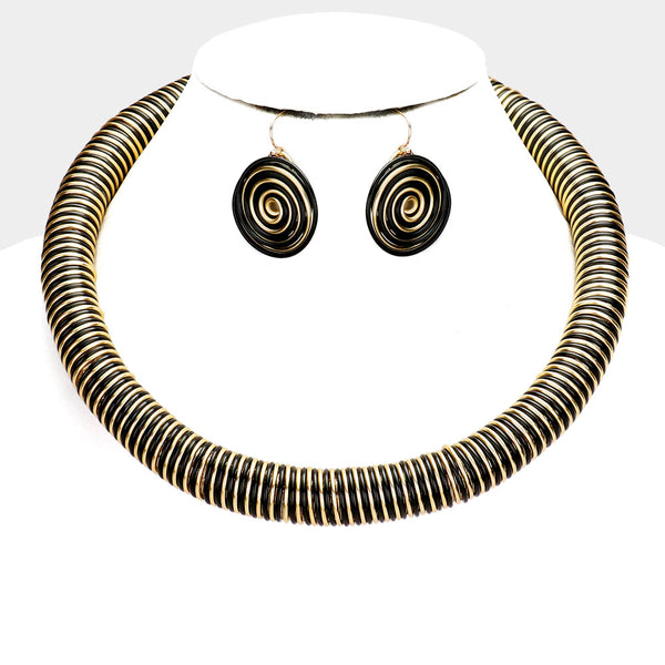 Wire Coiled Necklace