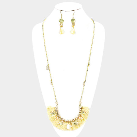 Pearl Cluster Metal Chain Statement Necklace