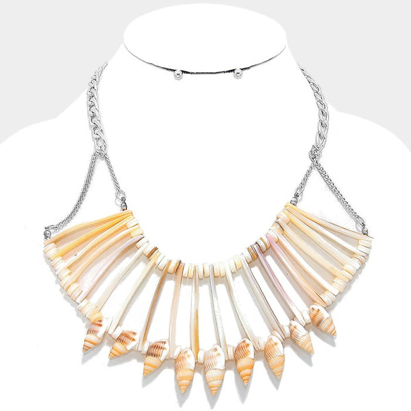 Shell Bar Bib Necklace