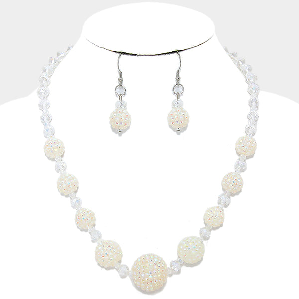 Crystal Disco Ball Necklace
