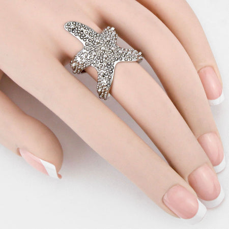 Bernadette Flower Band Ring