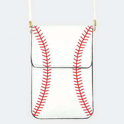 Baseball Touch View Cell Phone Cross Bag