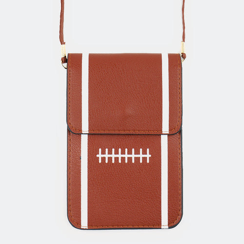 Football Touch View Cell Phone Cross Bag