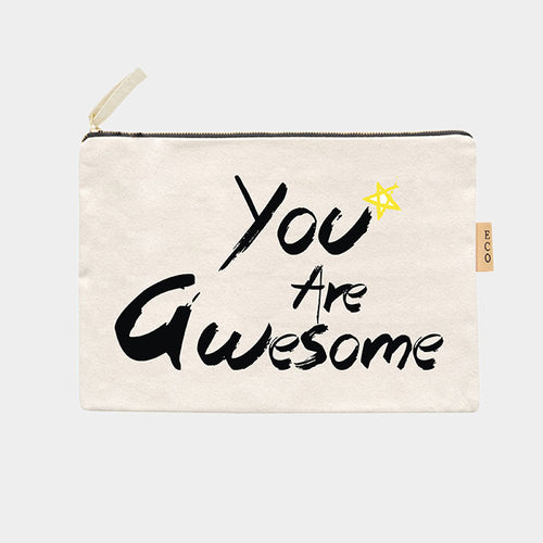 You The Awesome Cotton Canvas Eco Pouch Bag