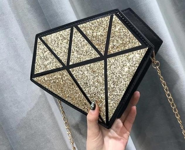 Sequins Diamond Shape Geometric Bag