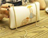 Embroidery Cartoon Pattern Party Clutch Bag