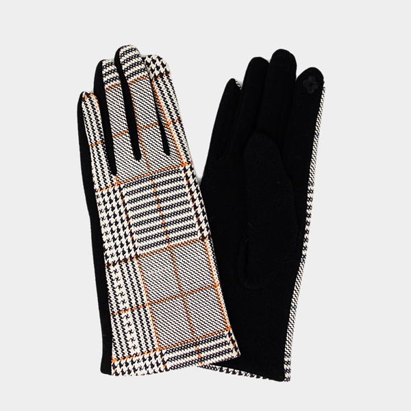 Plaid Check Smart Touch Gloves