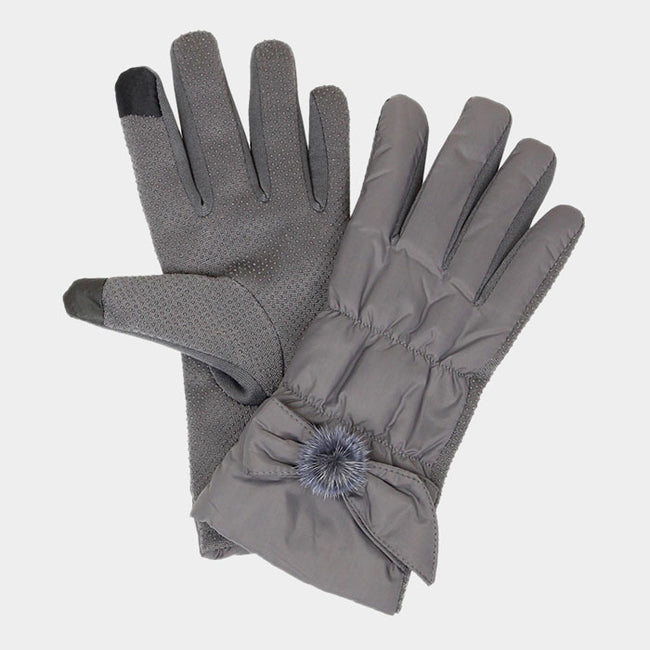 Ribbon Shirring Smart Touch Gloves