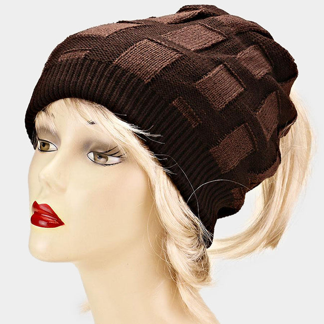 Open Top Acrylic Weave Hat