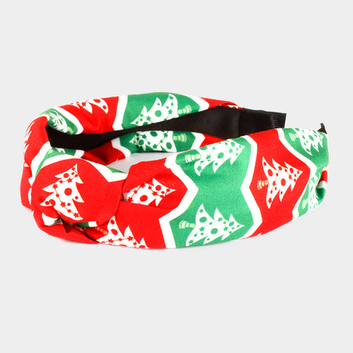 Christmas Tree Style Burnout Knot Headband