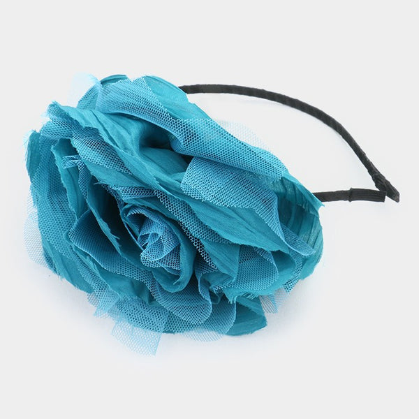 Layered Mesh Flower Headband